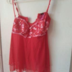 Victorias secret ladies red nightie sz 36C